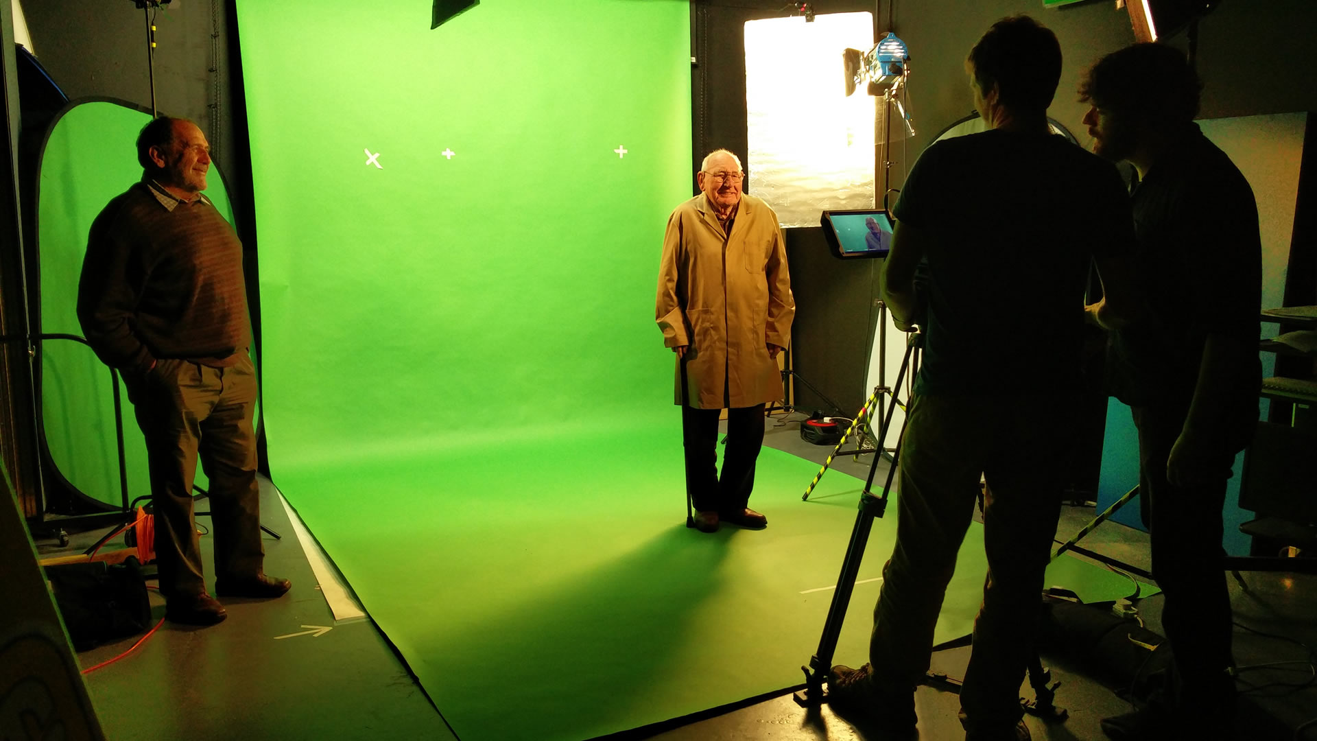 Bob Fulton in front of the green screen